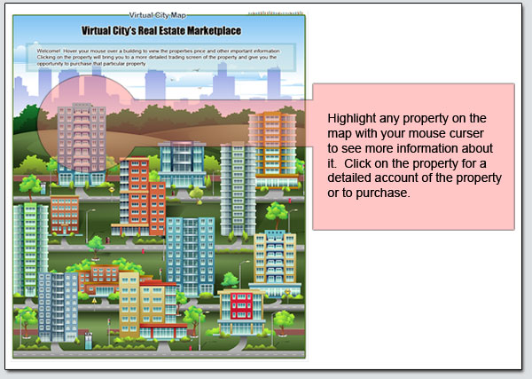 Virtual Real Estate Game Play Money Version Illustrated